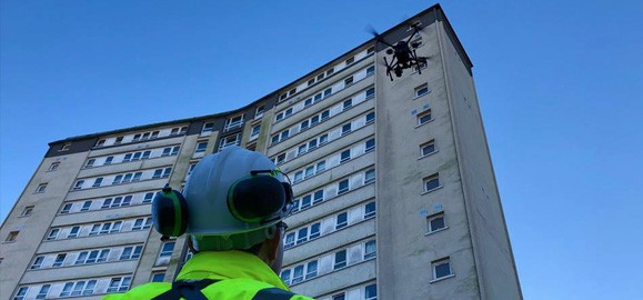 no need for scaffolding means drones offer a real cost saving.