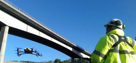 bridge inspection using a drone