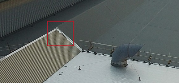 leaking factory roof