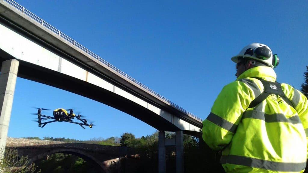 drone survey of a bridge