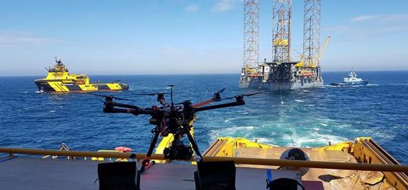 drone inspection oil platform
