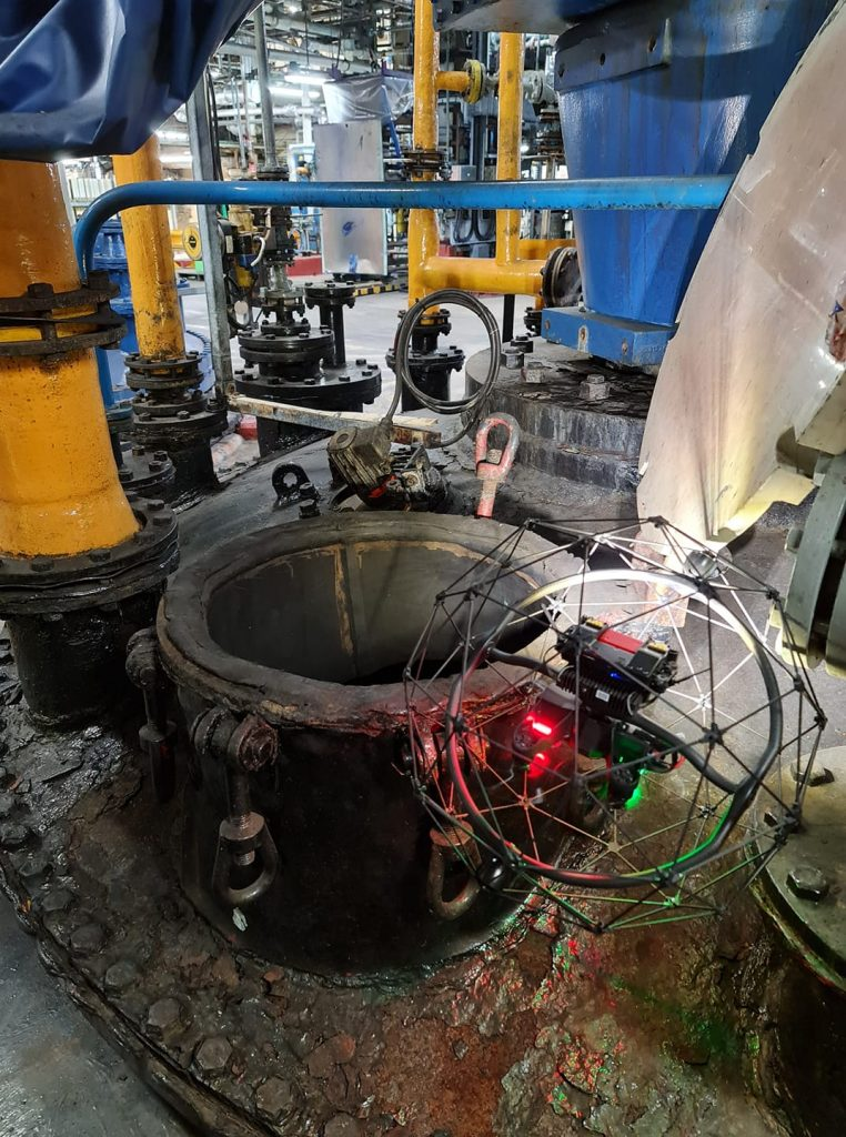 internal pipe inspection using drones
