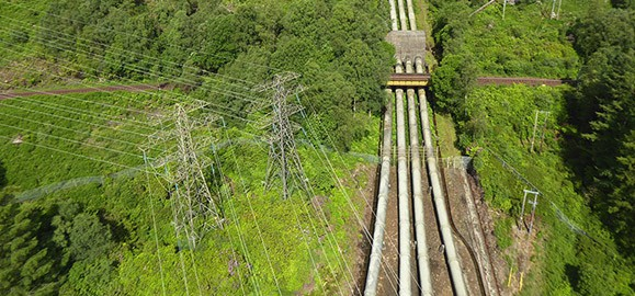 aerial survey inspection of pipelines in Scotland