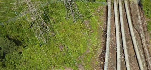 UAV aerial powerline inspection