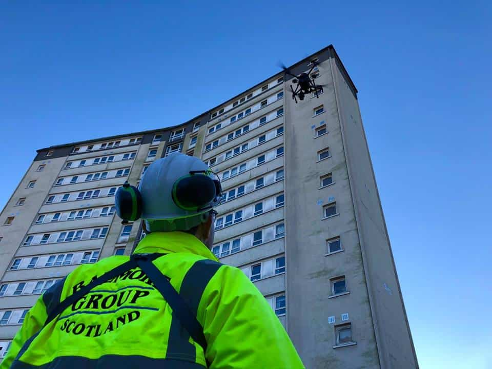 building inspection using aerial drone