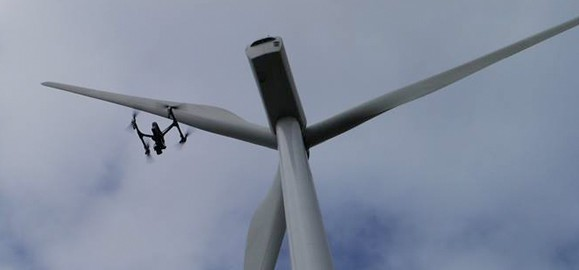 wind farm drone survey